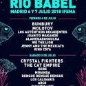 Cartel Festival Río Babel 2018