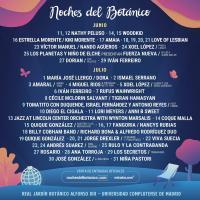 Cartel Noches del Botánico 2021