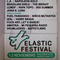 Elastic Festival 2013 - Cartel