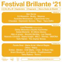 Cartel por días Festival Brillante 2021