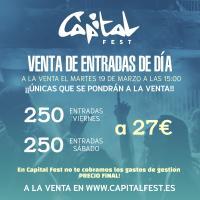 Capital Fest pone a la venta entradas de un único día