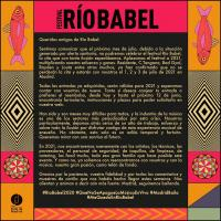 Cartel Festival Río Babel 2020