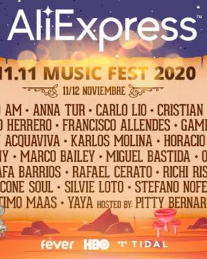 AliExpress 11.11 Music Fest 2020